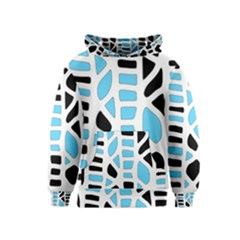 Light blue decor Kids  Pullover Hoodie
