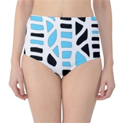 Light blue decor High-Waist Bikini Bottoms