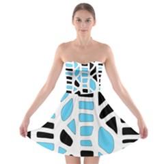 Light blue decor Strapless Dresses