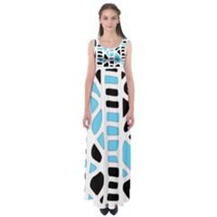 Light Blue Decor Empire Waist Maxi Dress