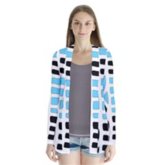 Light blue decor Drape Collar Cardigan