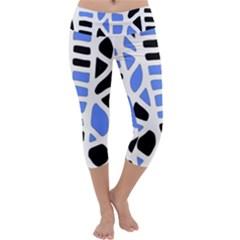 Blue Decor Capri Yoga Leggings