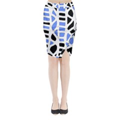 Blue decor Midi Wrap Pencil Skirt