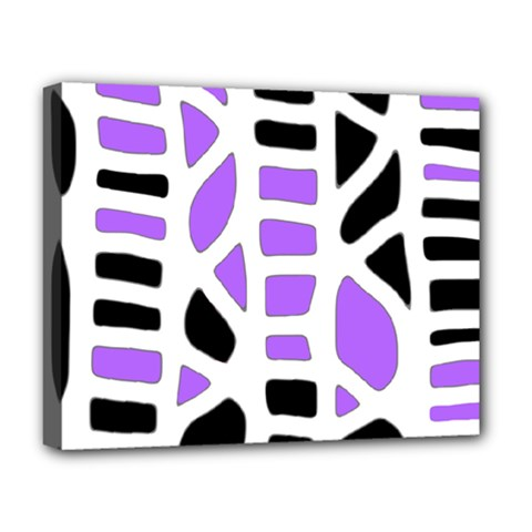 Purple abstract decor Deluxe Canvas 20  x 16