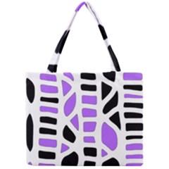 Purple abstract decor Mini Tote Bag