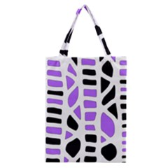 Purple abstract decor Classic Tote Bag