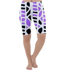 Purple abstract decor Cropped Leggings