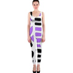 Purple abstract decor OnePiece Catsuit