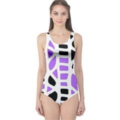 Purple abstract decor One Piece Swimsuit