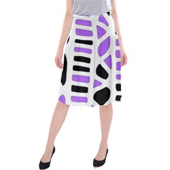 Purple abstract decor Midi Beach Skirt