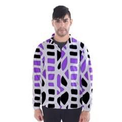 Purple abstract decor Wind Breaker (Men)