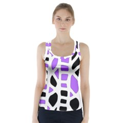 Purple abstract decor Racer Back Sports Top