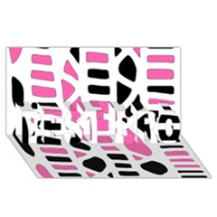 Pink decor BEST BRO 3D Greeting Card (8x4)