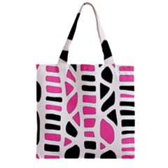 Pink decor Zipper Grocery Tote Bag
