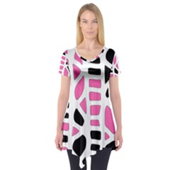 Pink decor Short Sleeve Tunic