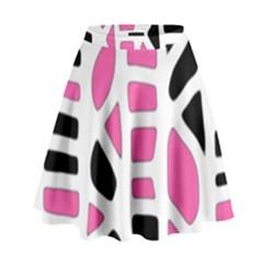 Pink decor High Waist Skirt