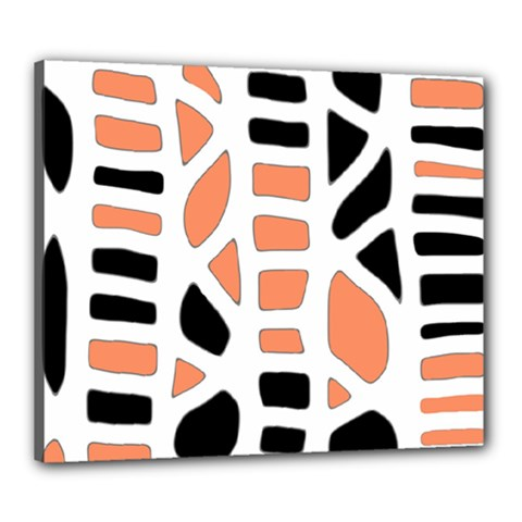 Orange decor Canvas 24  x 20
