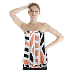Orange decor Strapless Top