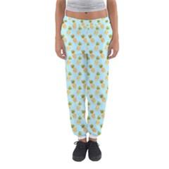 Tropical Watercolour Pineapple Pattern Women s Jogger Sweatpants