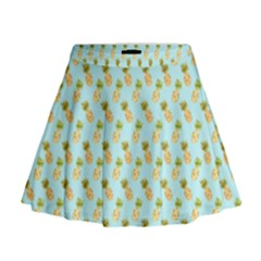 Tropical Watercolour Pineapple Pattern Mini Flare Skirt