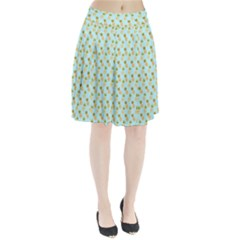 Tropical Watercolour Pineapple Pattern Pleated Skirt