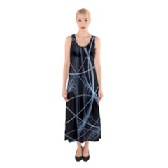 Geometric Space Sleeveless Maxi Dress