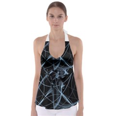 Geometric Space Babydoll Tankini Top