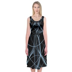 Geometric Space Midi Sleeveless Dress