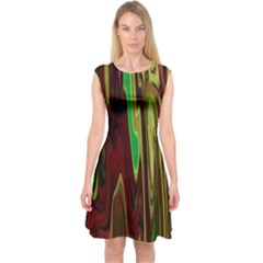 Turmoil Capsleeve Midi Dress