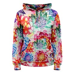 Colorful Succulents Women s Pullover Hoodie