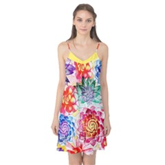 Colorful Succulents Camis Nightgown