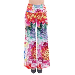 Colorful Succulents Women s Chic Palazzo Pants