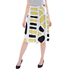 Yellow decor Midi Beach Skirt