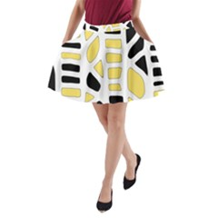 Yellow decor A-Line Pocket Skirt