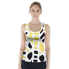 Yellow Decor Racer Back Sports Top