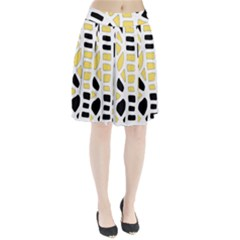 Yellow decor Pleated Skirt