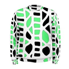 Light green decor Men s Sweatshirt