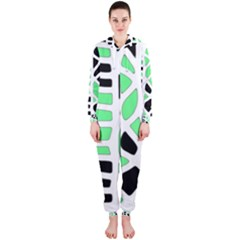 Light green decor Hooded Jumpsuit (Ladies)