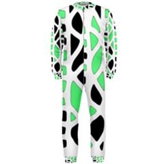 Light Green Decor Onepiece Jumpsuit (men)