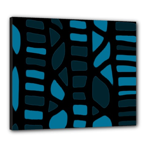 Deep blue decor Canvas 24  x 20