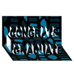 Deep blue decor Congrats Graduate 3D Greeting Card (8x4)