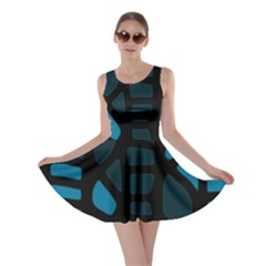 Deep blue decor Skater Dress