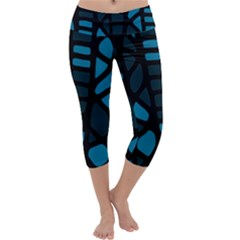 Deep blue decor Capri Yoga Leggings