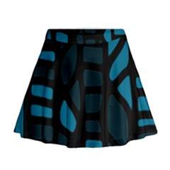 Deep blue decor Mini Flare Skirt