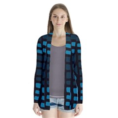 Deep blue decor Drape Collar Cardigan