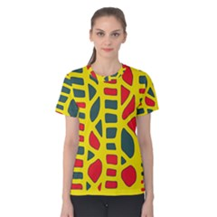 Yellow, green and red decor Women s Cotton Tee