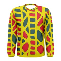 Yellow, green and red decor Men s Long Sleeve Tee
