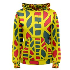Yellow, green and red decor Women s Pullover Hoodie