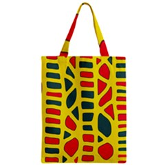Yellow, green and red decor Zipper Classic Tote Bag