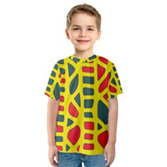 Yellow, green and red decor Kid s Sport Mesh Tee